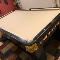Beautifully Restored Antique Brunswick 8.5 Foot Pool Table